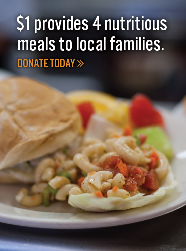 Donate today-Your $1 provides 5 meals!