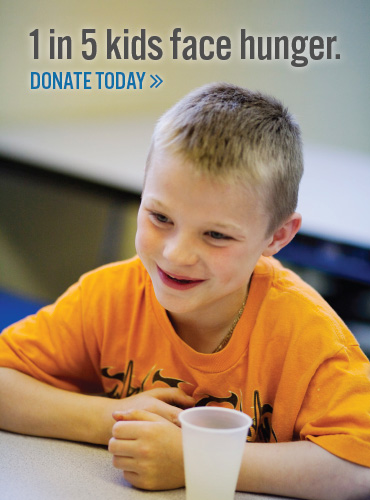 Donate today Your $1 provides 5 meals!