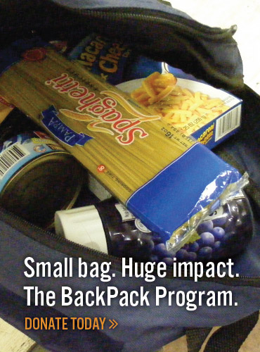 Thanks for your support of the Second Harvest Food Bank Backpack Program